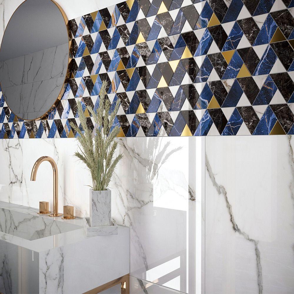 carrelage imitation marbre bleu 60x60