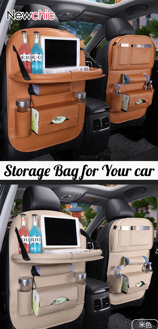 Photo of 【Shop Now】49% OFF #Leather Car Seat #Storage Hanging Bag Multi-Function Bag #newcar