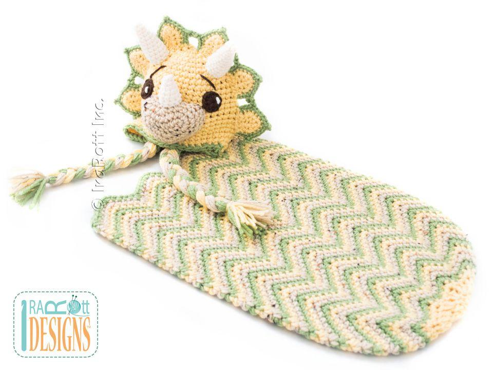 Tops the Triceratops Dino Baby Set PDF Crochet Pattern | Pinterest ...