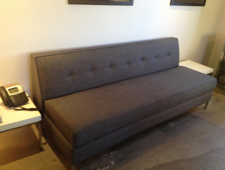 Small tight back back grey apartment sofa. Design your own ...