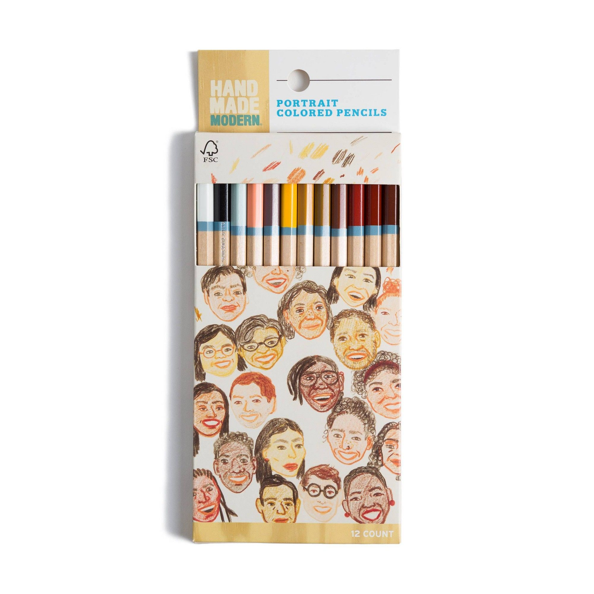 12ct Skin Tone Colored Pencils Hand Made Modern Skin Tone