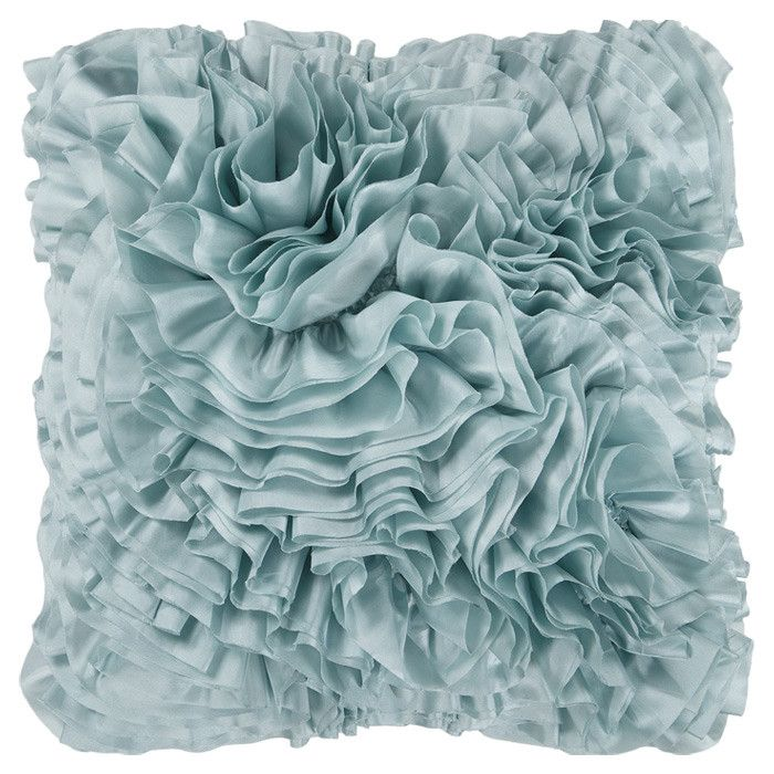 Ruffles Pillow On My Bed So Cool Throw Pillows Blue