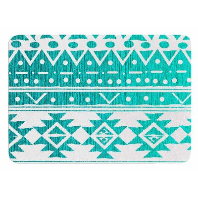 East Urban Home Aquamarine Tribal by Nika Martinez Bath Mat