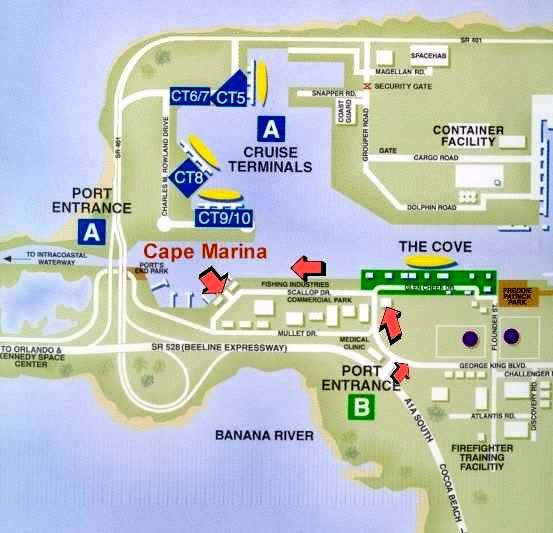 map port canaveral cruise terminal Port Canaveral Cruise Terminal Shuttle Port Canaveral Ground map port canaveral cruise terminal