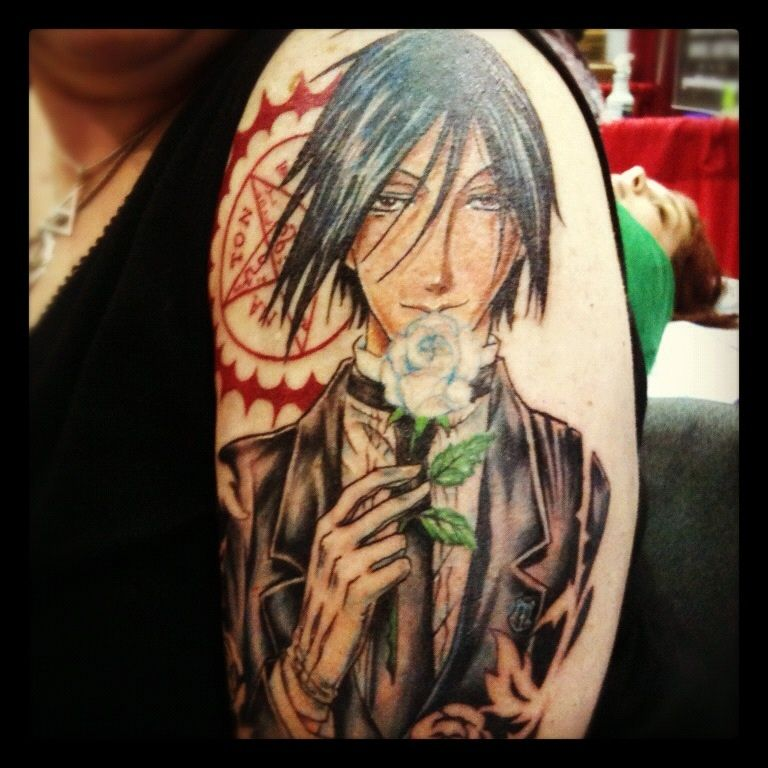 23 Epic Literary Love Tattoos: My Epic Black Butler Tattoo!!!! Best Tattoo Artist In The