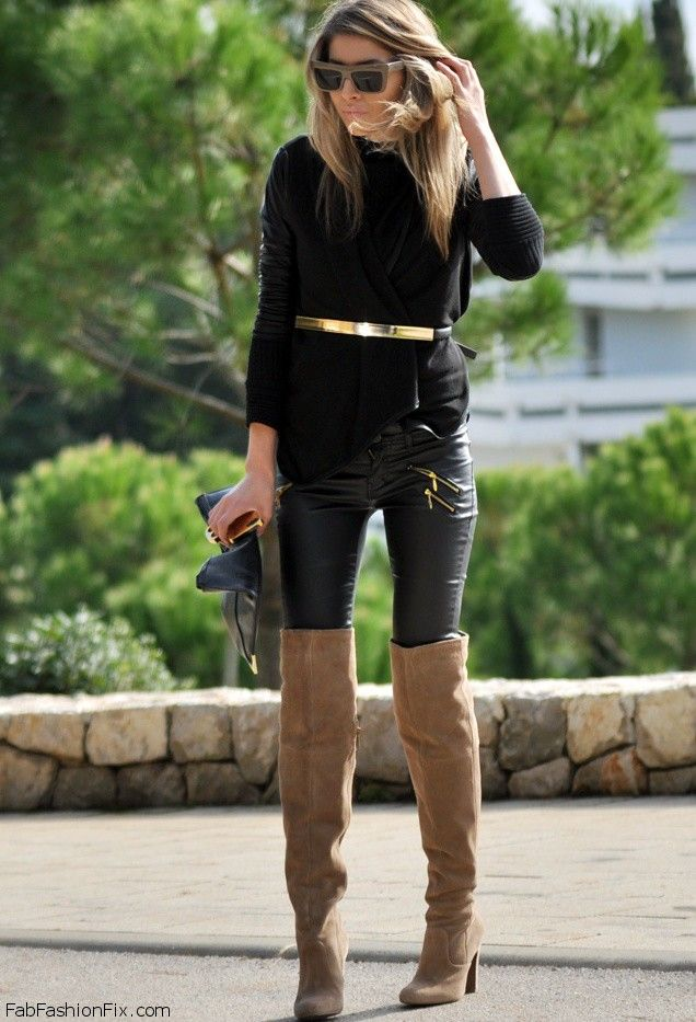 over the knee suede winter boots nyc