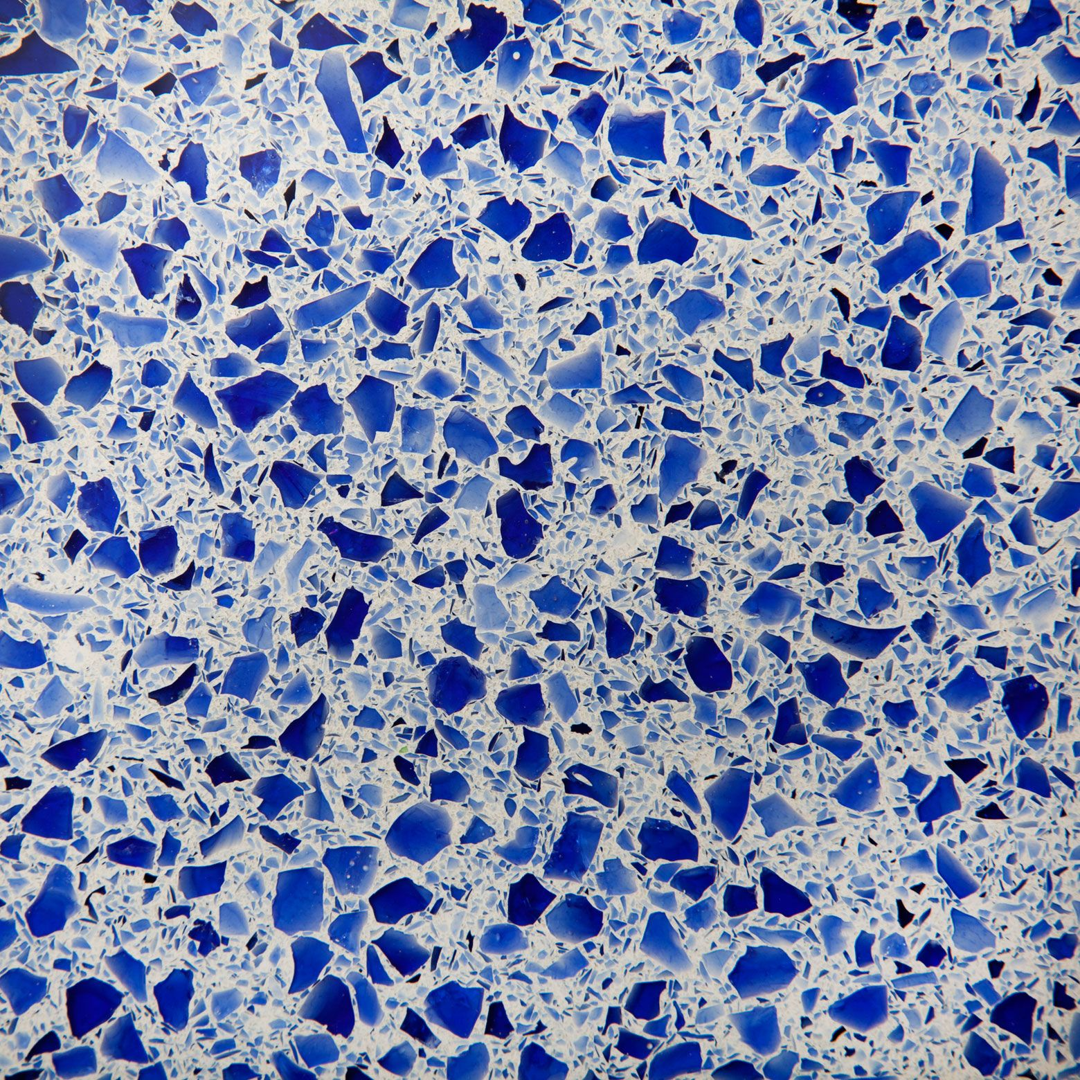 Quartz Countertops With Recycled Glass | Cobalt_Ice_icestone_recycled_glass