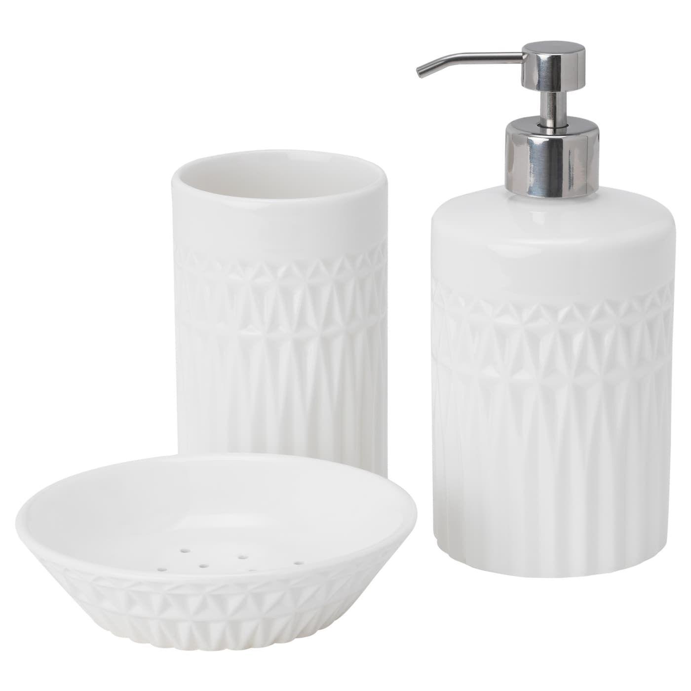 Gaviken Badezimmer Set 3 Tlg Weiss Ikea Osterreich Badezimmer Set Ikea Badzubehor Und Badezimmer Zubehor Set