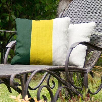 """East Urban Home Oregon Indoor/Outdoor Throw Pillow Size: 20"""" H x 20"""" W, Colour: ..."""
