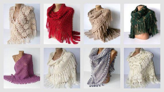 women hand crochetted shawl maroon shawl stole wrap gifts by seno, $65.00