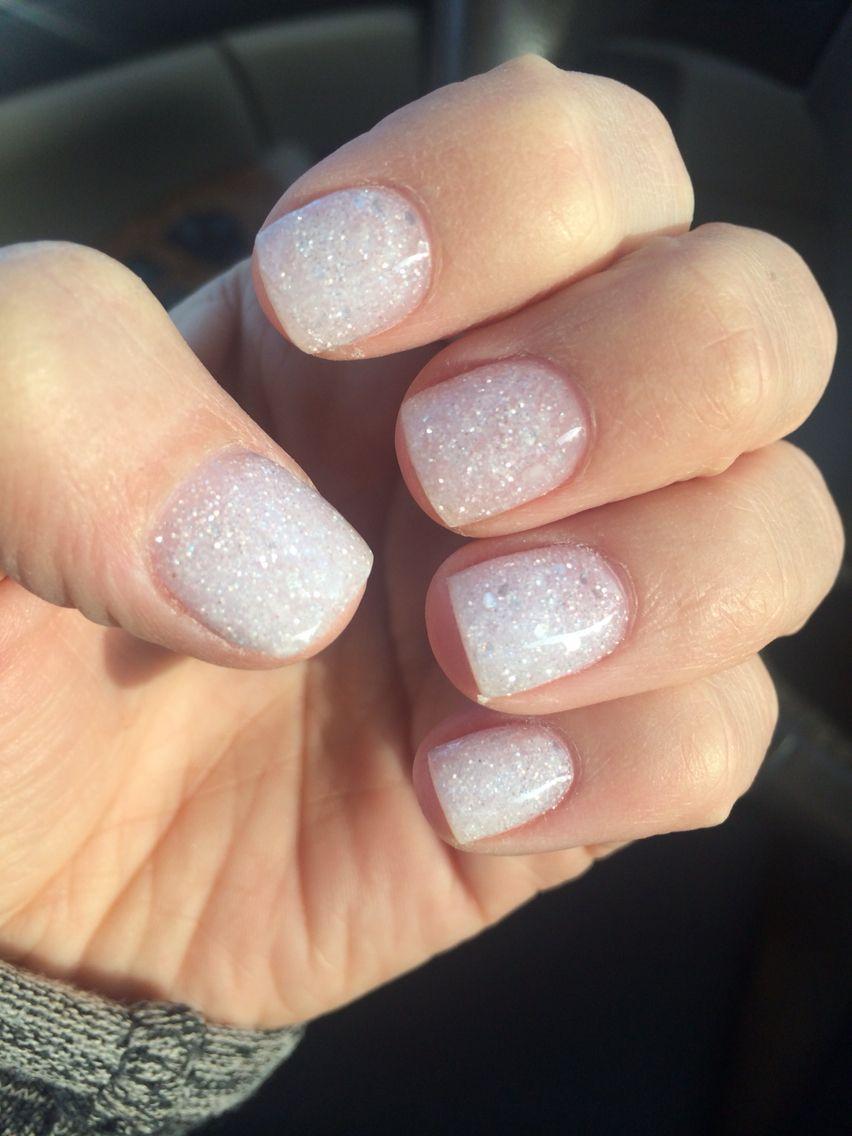 White glitter nails | White glitter nails, Dipped nails ...