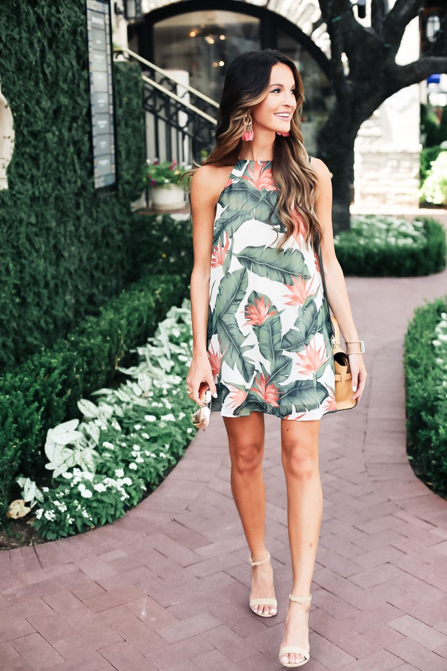 9e6de84d88f lauren sims mumu palm leaf dress