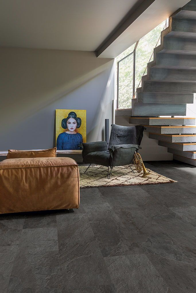 How To Choose The Ideal Living Room Floor Vinyl Flooring Slate Vinyl Flooring Vinyl Tiles