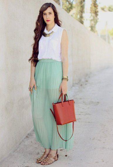 Shine Dresses - http://www.shinedresses.com/girls-mint-green-skirt/