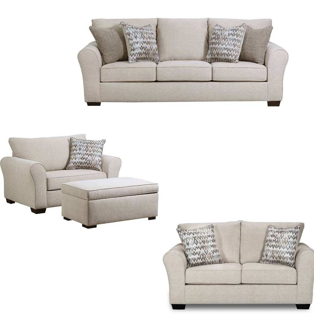 Simmons Upholstery - Boston 4 Piece Living Room Set - 1657-03-02-015 ...