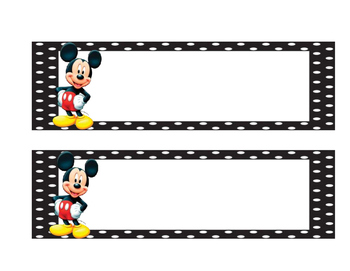 Mickey mouse name badge
