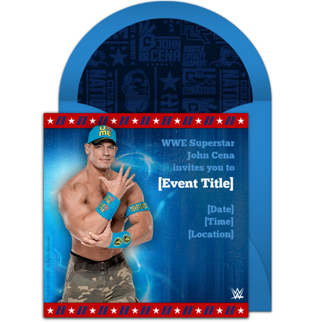 image relating to Wwe Birthday Invitations Printable Free identify Cost-free WWE John Cena Birthday Invites Boy Birthday Plans