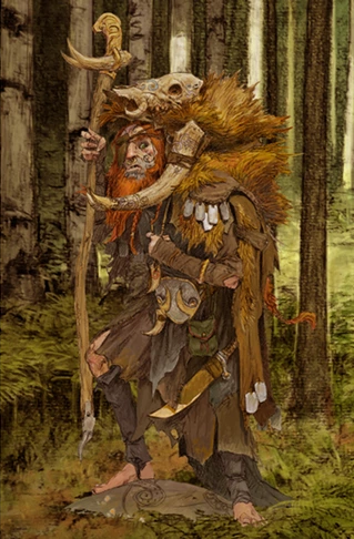 Wildboar Shaman - Character Concept art for Blood Rage by CoolMiniOrNot — Kickstarter | Fantasy Mage Druid