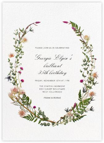 Fleurs Sauvages - Paperless Post