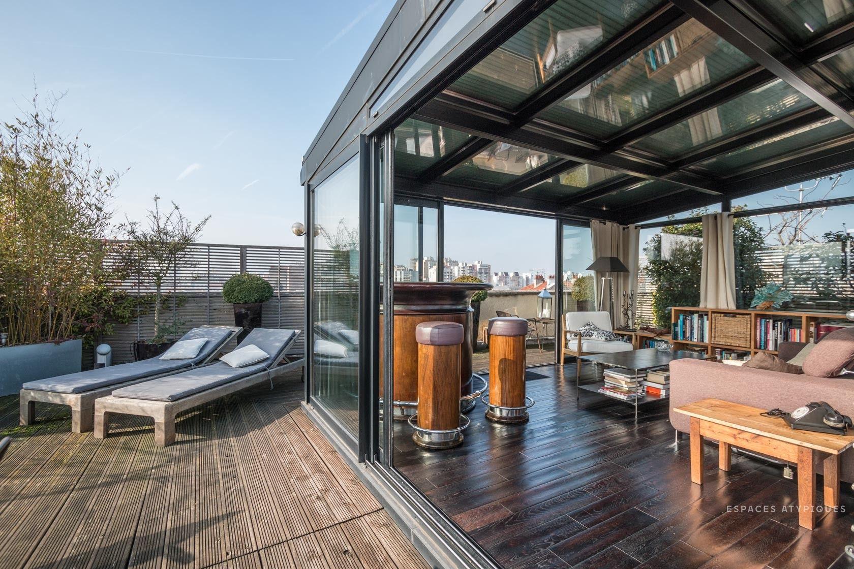Penthouse avec terrasses et vue panoramique pantin - Hotel chambre avec terrasse paris ...