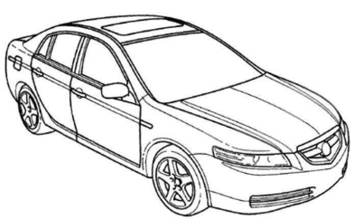 Acura Honda Coloring Page Acura Ilx Acura Coloring Pages