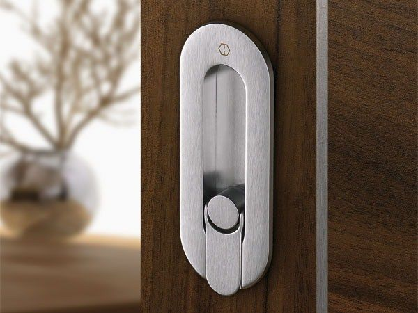 Contemporary Style Recessed Door Handle Spazio Kit By Hoppe Door Handles Doors Contemporary Style