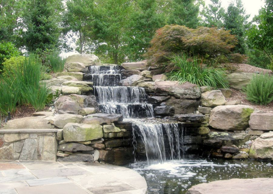Water Features Sisson Landscapes Fountains Outdoor Waterfalls Backyard Stone Garden Fountains