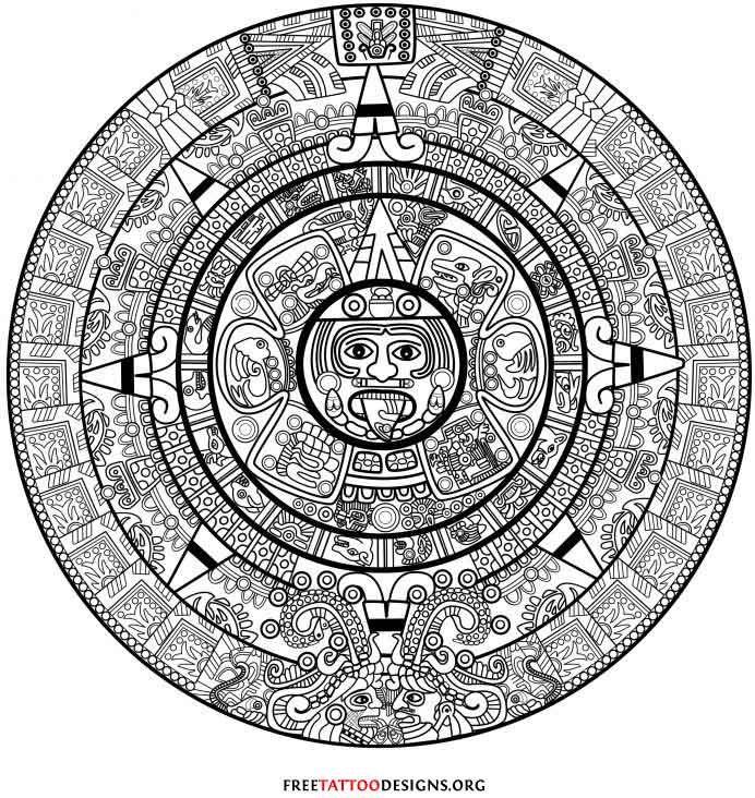 Aztec calendar tattoo | Tattoo | Pinterest | Arreglos florales ...