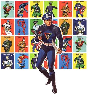 vintage superhero figure