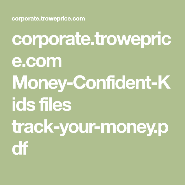 tracking your money