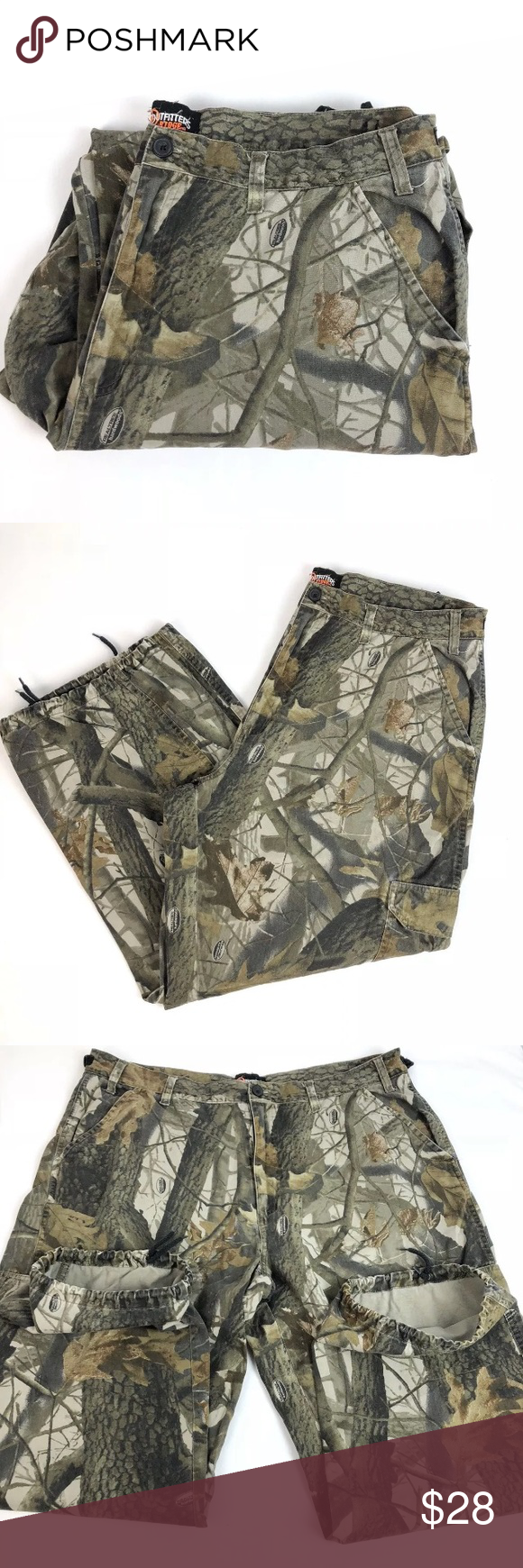 f9f4fe99b9cd7 Outfitters Ridge Realtree Hardwoods Camo Cargo Outfitters Ridge Realtree  Hardwoods Camo Cargo Pants tag size Mens