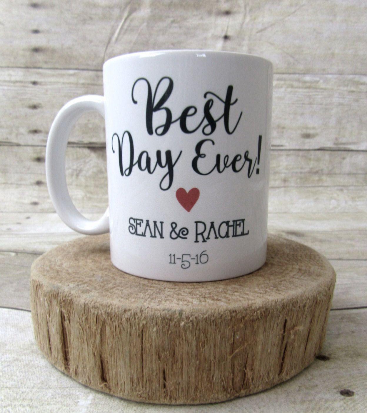 Wedding Coffee Mug, Wedding Cup, Bride & Groom 15 oz Mug ...