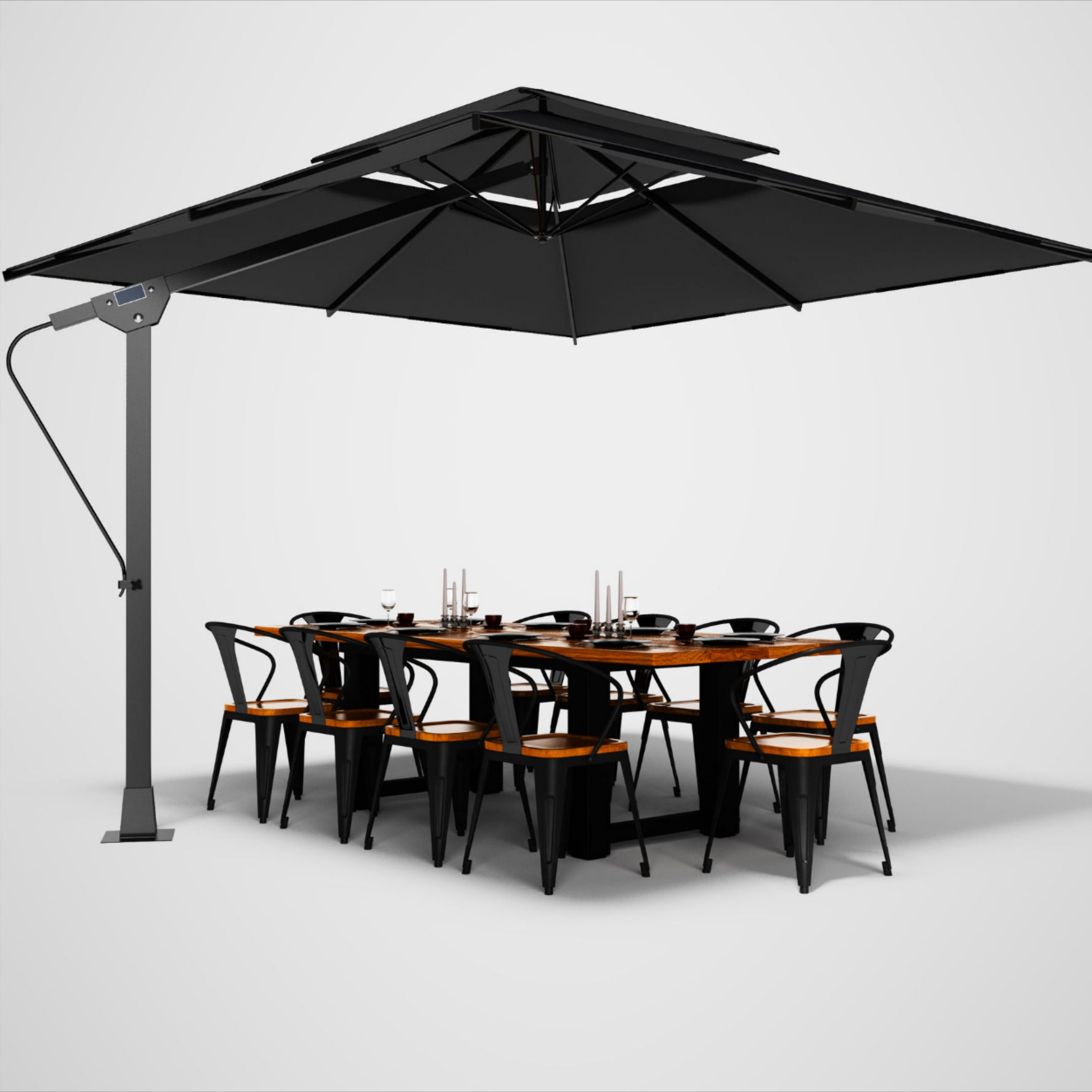 patio umbrella guide to sizes shapes