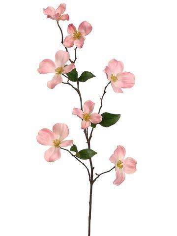 "29"" Faux Dogwood Branch Blush Dogwood flowers, Faux"