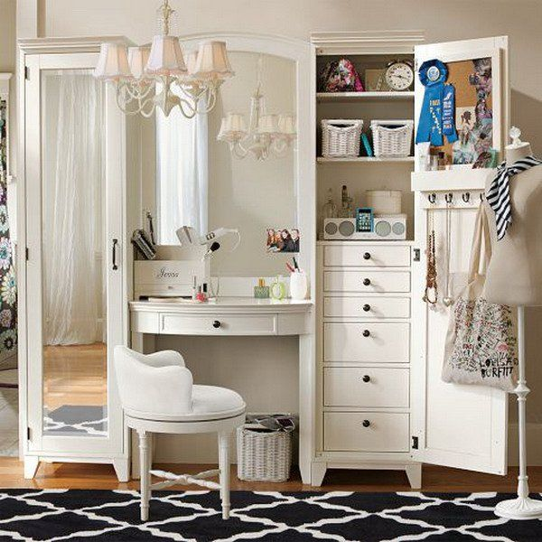 Vanity-And-Tower-Bedroom-Ideas-with-White-Bedroom-Vanity-and ...