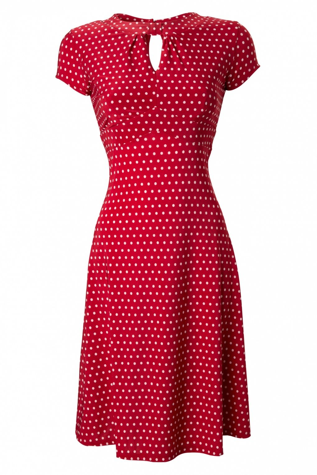 51dd3112c084fa  need ❤ Lindy Bop - 40s Juliet Classy Red Polka Dot Vintage Flared Tea dress