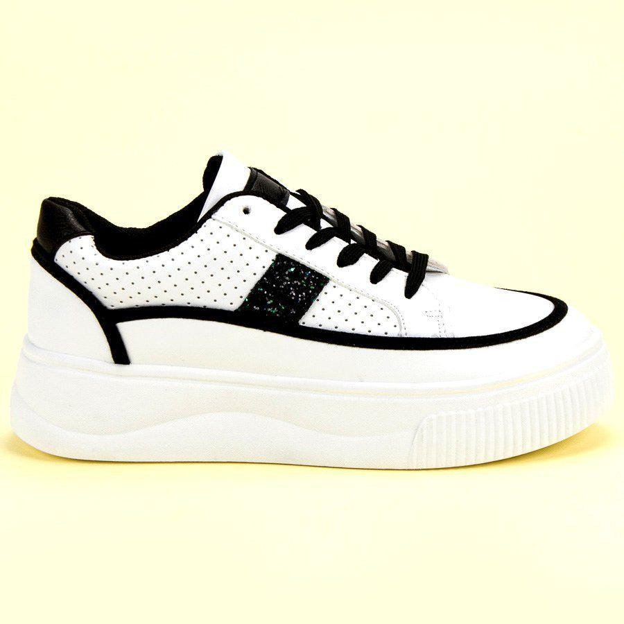 Biale Creepersy Z Brokatem Sneakers Nike Shoes Nike Free