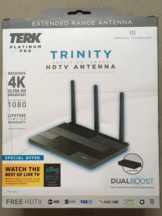 Terk Platinum Pro Tritva2z Trinity Amplified Indoor Hdtv Antenna 044476125706 Hdtv Antenna Hdtv Antenna