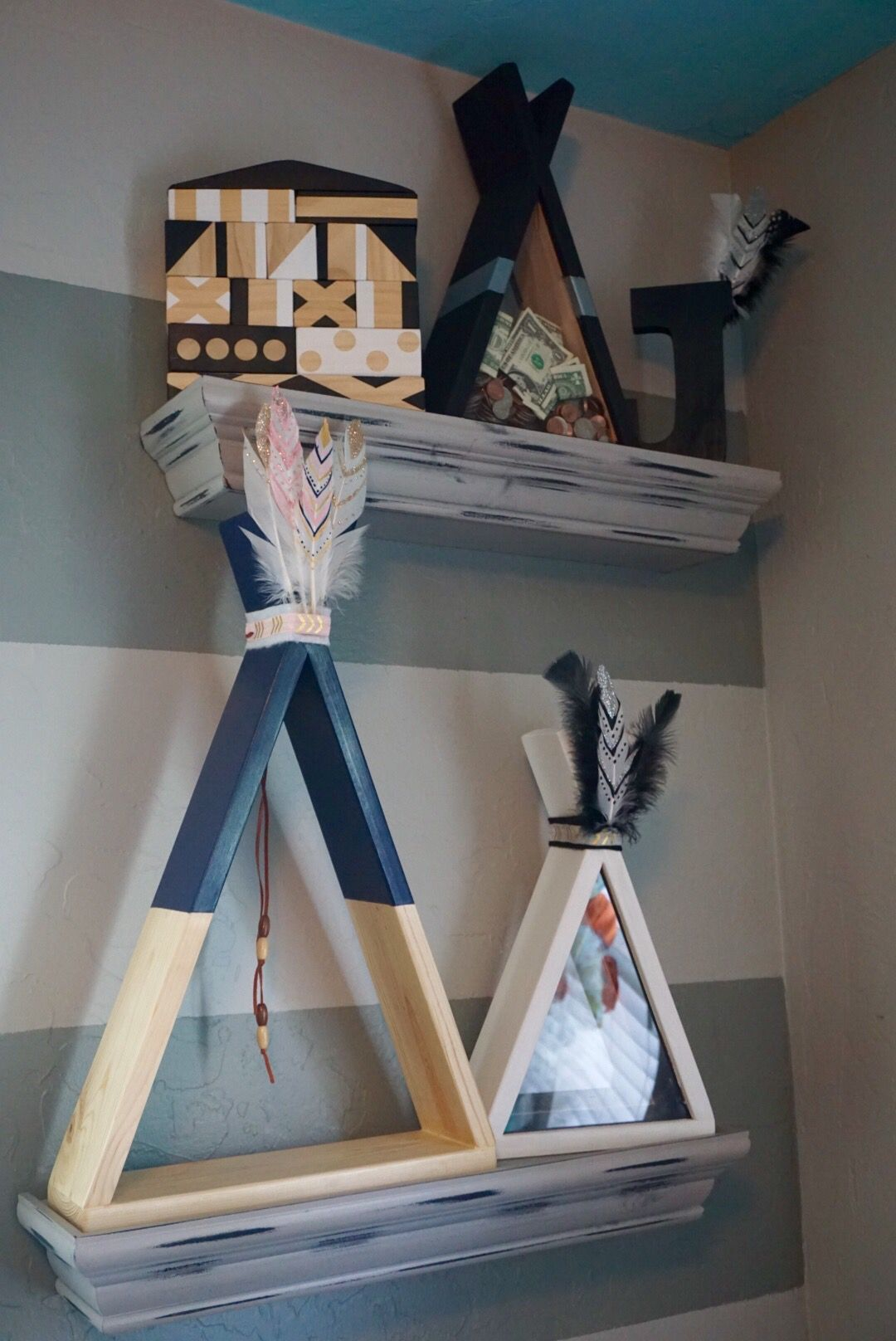 Baby Bedroom In A Box Special: Pin On Teepee Shadow Box Shelves