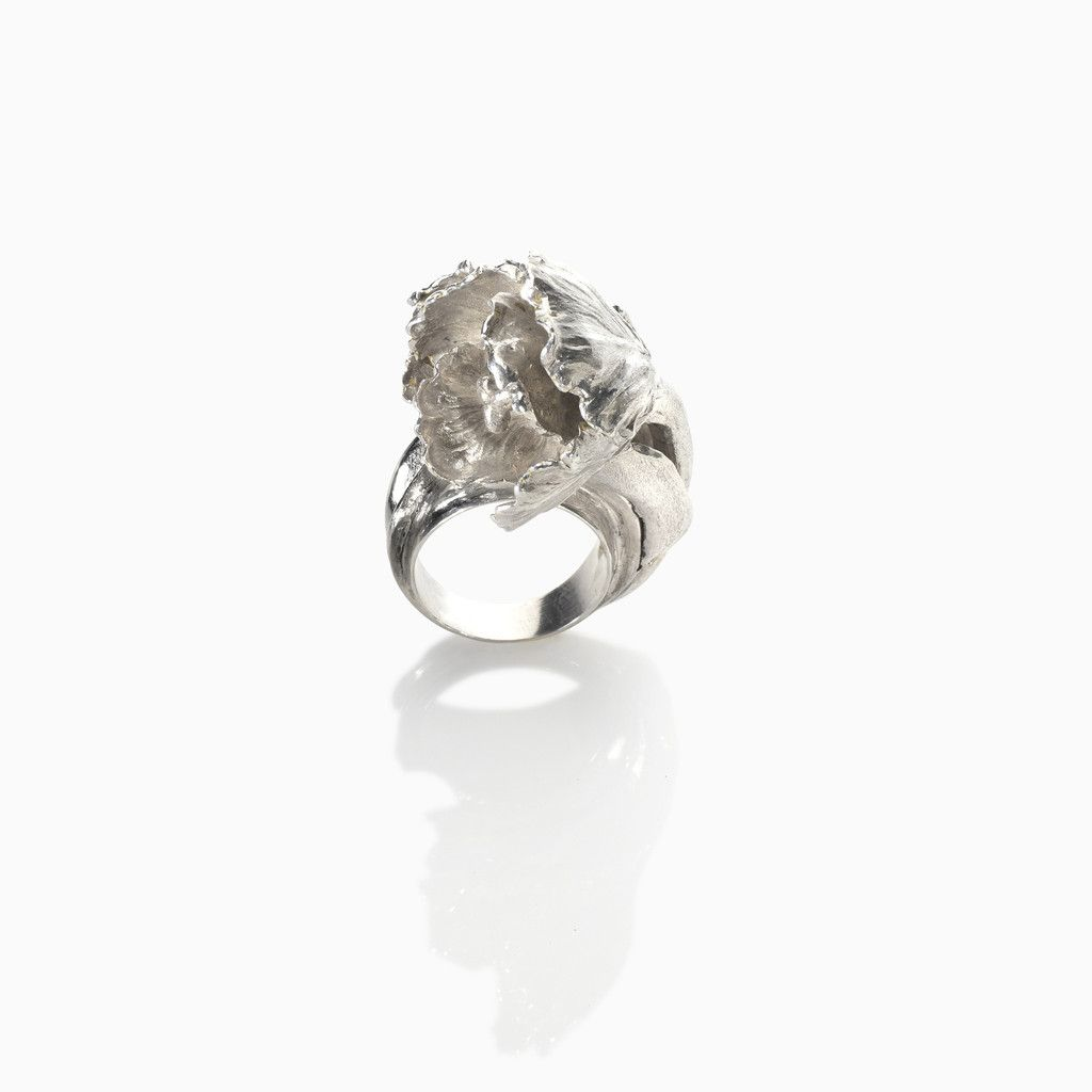 Tulip statement cocktail ring #arghenoia #jewelry