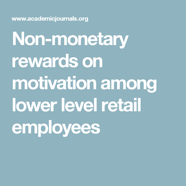 monetary rewards for employees