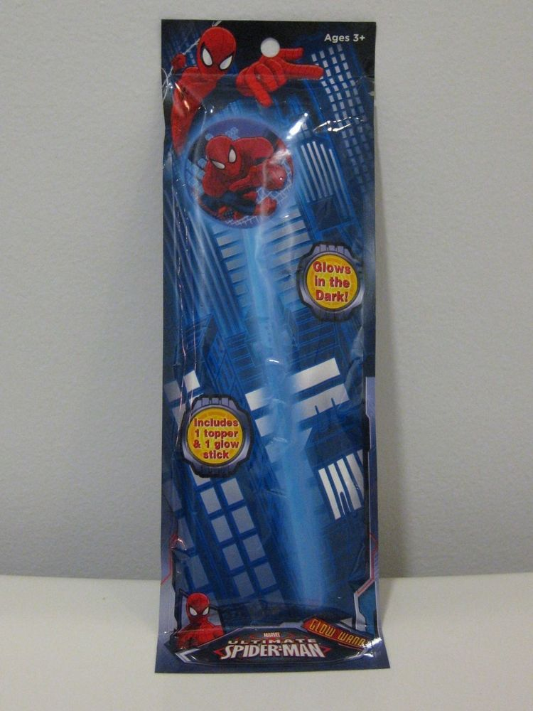 Marvel ULTIMATE SPIDER-MAN Glow Wand and Topper NEW  3+ AGES AND FOR BOYS #Marvel
