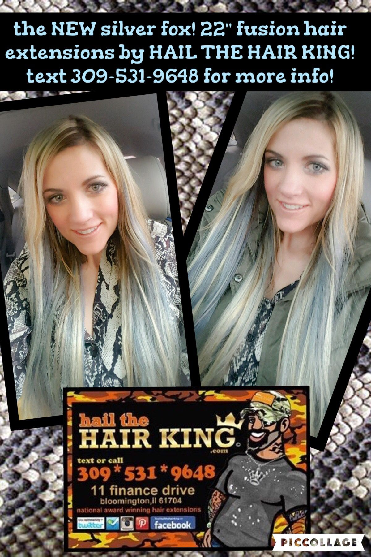 The New Silver Fox 22 Fusion Hair Extensions By Hail The Hair King