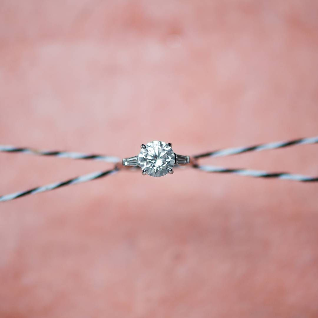 Start your week off with some sparkle! Tapered baguette #diamond ...