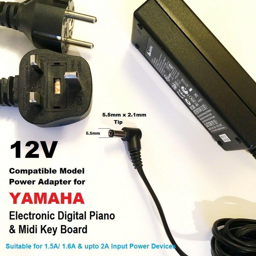 12v Power Adapter For Yamaha Piano Psr 41 Psr 410 Psr 420 Psr 450 Psr 4500 Chargers R Us In 2020 Yamaha Piano Power Adapter Adapter