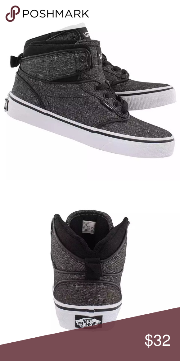 6e0d8dd1b54b1e Vans boys Atwood Hi textile shoes NIB Vans Atwood boys skate shoes. The  tops of the shoes are padded. These shoes can be worn for dress or  everyday. NIB.