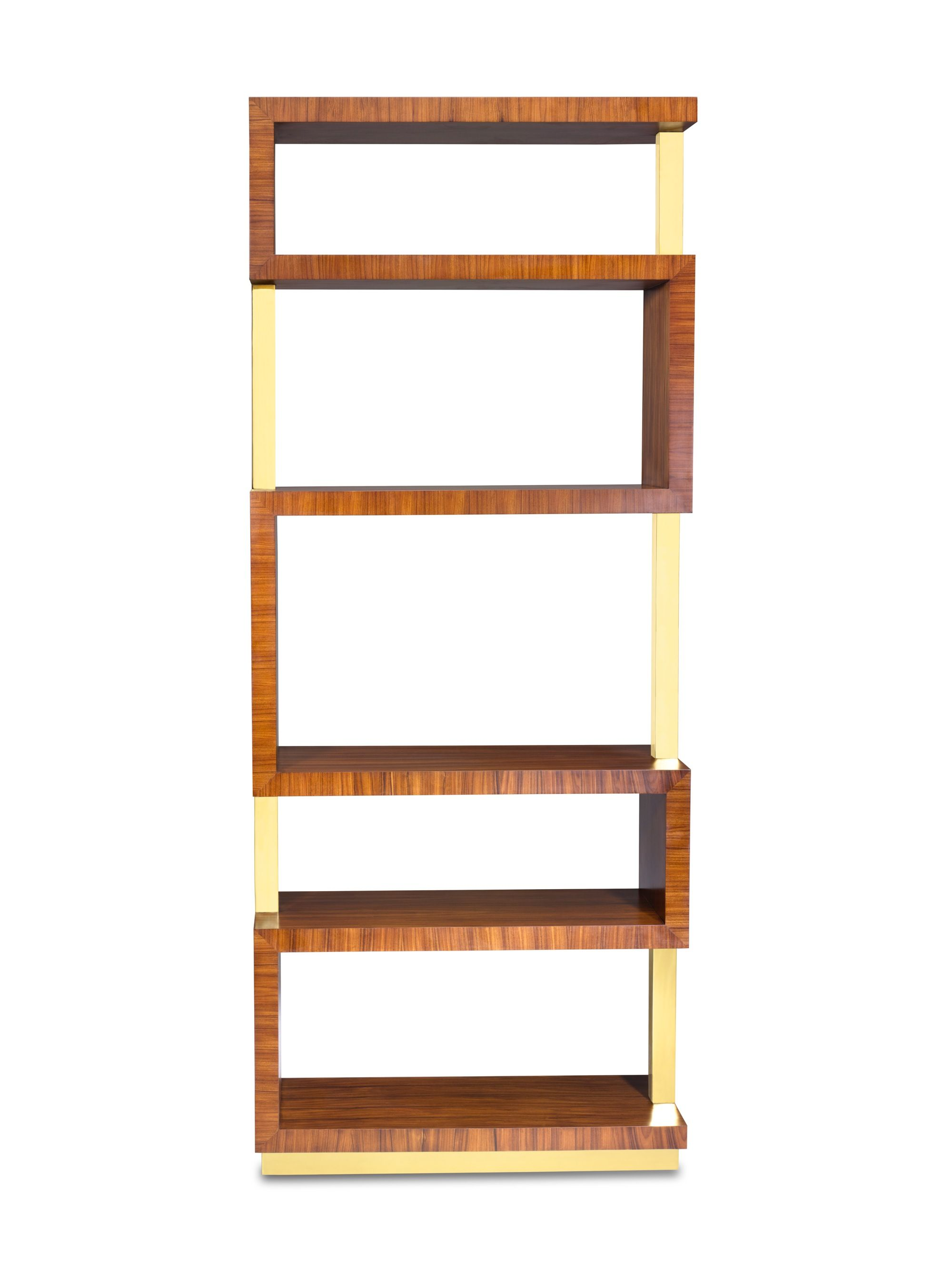The Bold Rosewood And Br Of This Parrish Etagere Twist Turn For A Graphic Accent