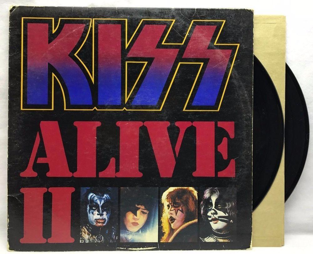Kiss Alive Ii 2 Casablanca Nblp 7076 Vinyl Record Lp Album Kiss Album Covers Rock Album Covers Detroit Rock City