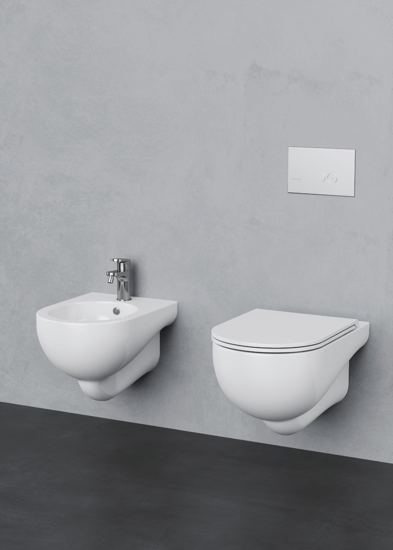 Nuvola Contemporary Bathroom Free Standing Bath Tub Ceramica