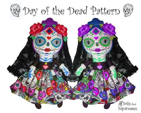 Day Of The Dead Sewing Pattern Sewing Patterns Halloween Patterns